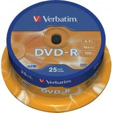 Verbatim DVD-R 4,7GB 16x 25-pack