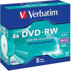 Verbatim DVD+RW 4,7GB 5-pack